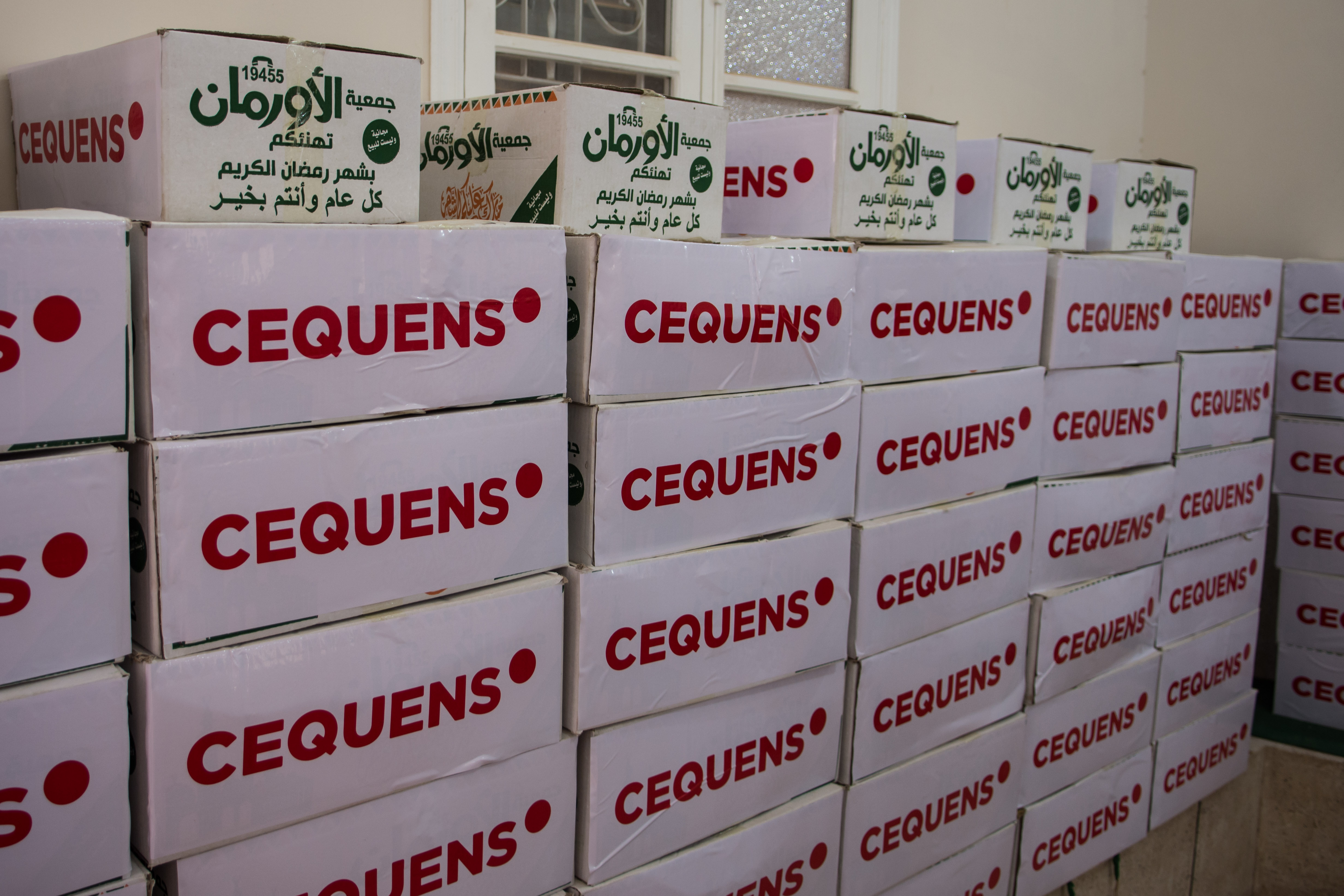 CEQUENS collaborates with Orman Association to support families with food boxes