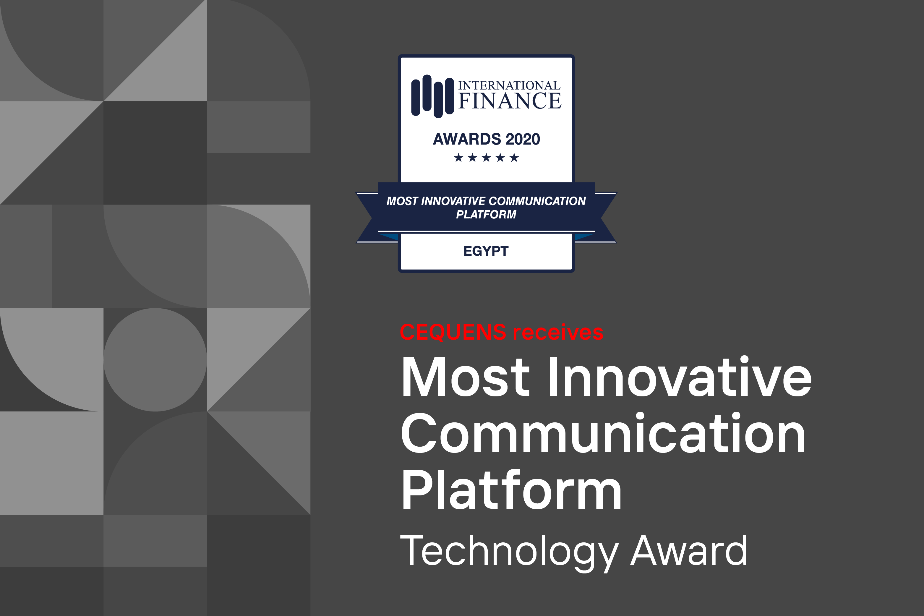 CEQUENS wins IFM 'Most Innovative Communication Platform' Award