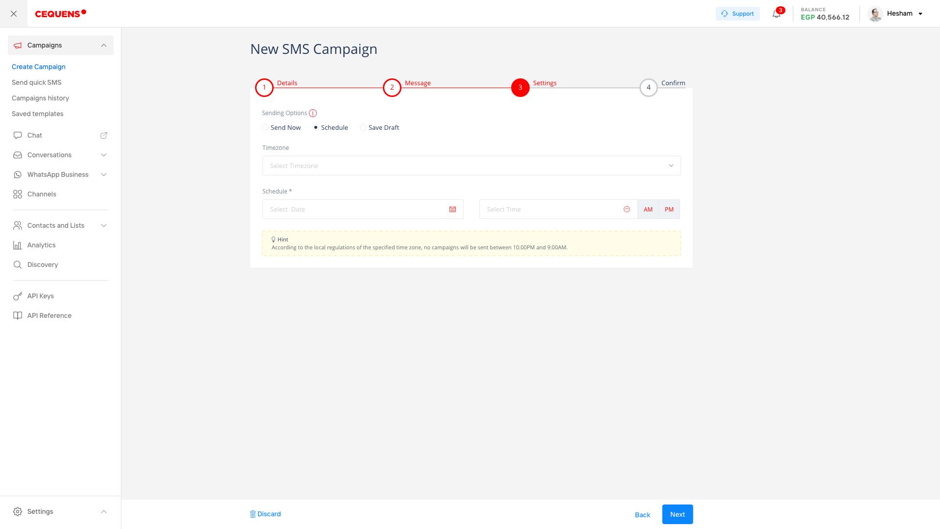 Customize campaign